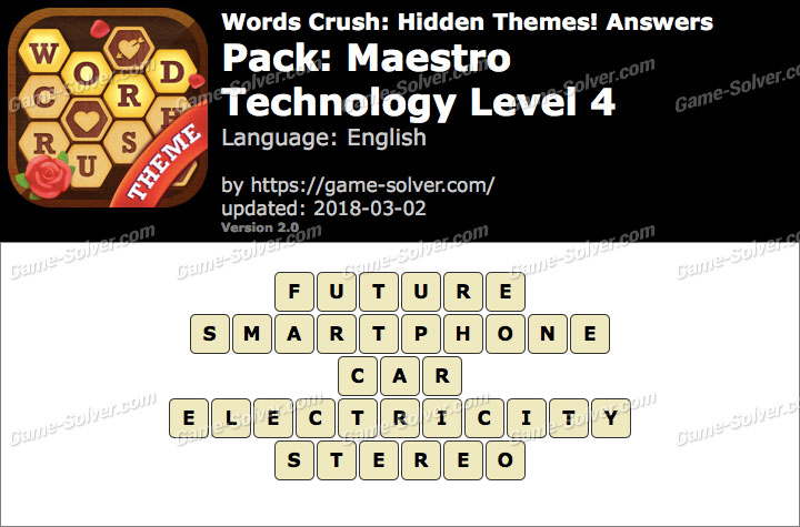 Words Crush Maestro-Technology Level 4 Answers
