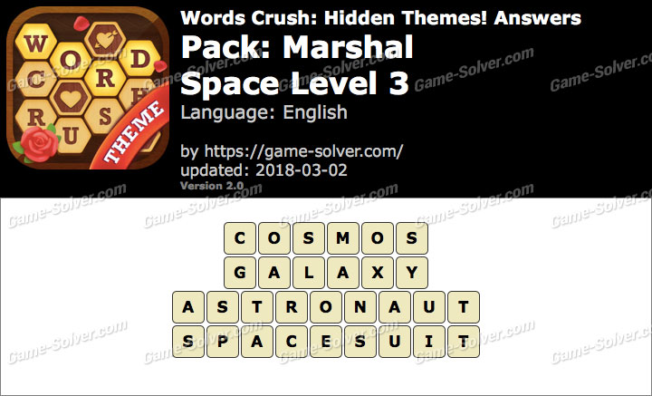 Words Crush Marshal-Space Level 3 Answers