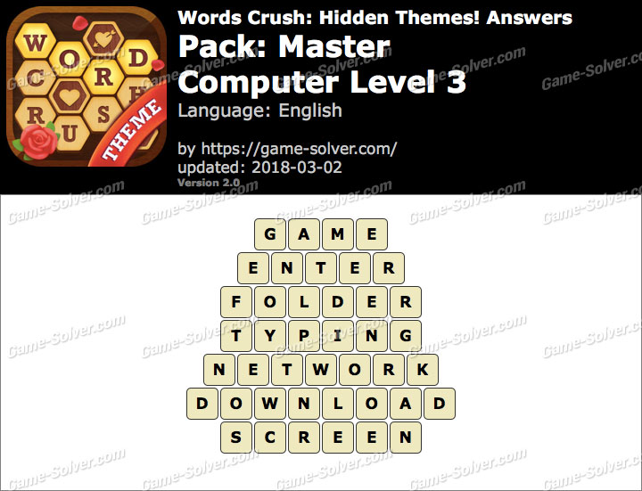 Words Crush Master-Computer Level 3 Answers