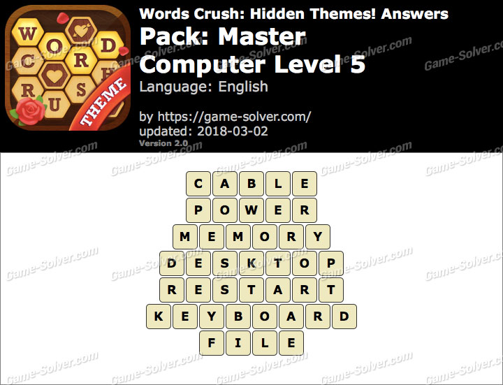 Words Crush Master-Computer Level 5 Answers