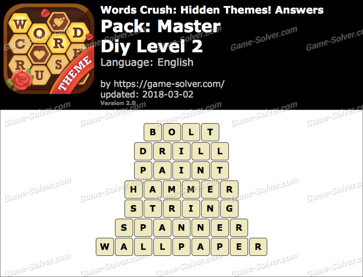 Words Crush Master-Diy Level 2 Answers