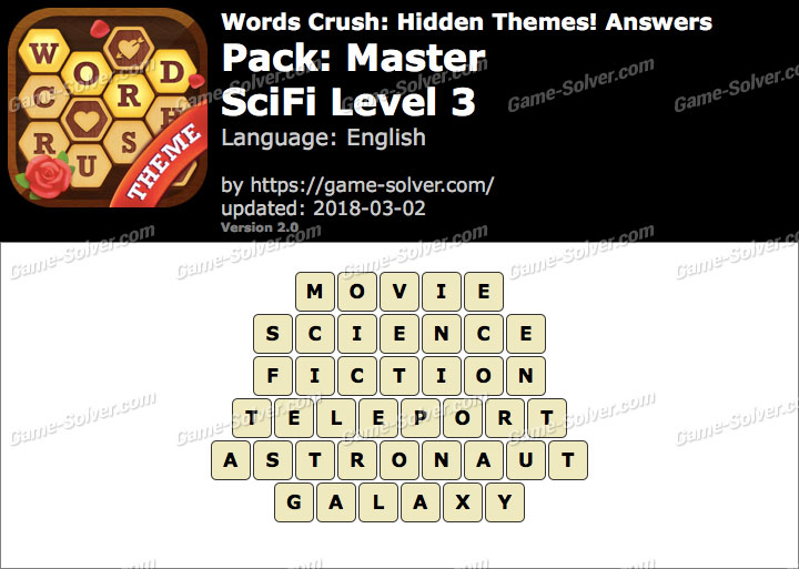 Words Crush Master-SciFi Level 3 Answers