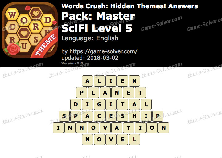 Words Crush Master-SciFi Level 5 Answers