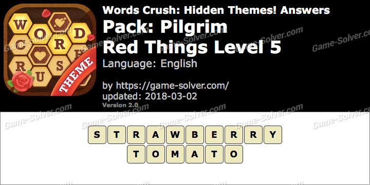 Words Crush Pilgrim-Red Things Level 5 Answers