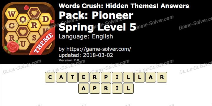 Words Crush Pioneer-Spring Level 5 Answers