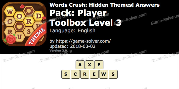 Words Crush Player-Toolbox Level 3 Answers