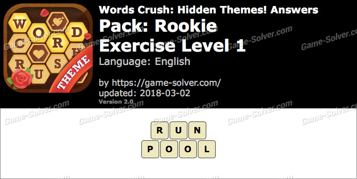Words Crush Rookie-Exercise Level 1 Answers
