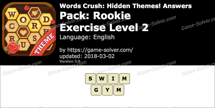 Words Crush Rookie-Exercise Level 2 Answers