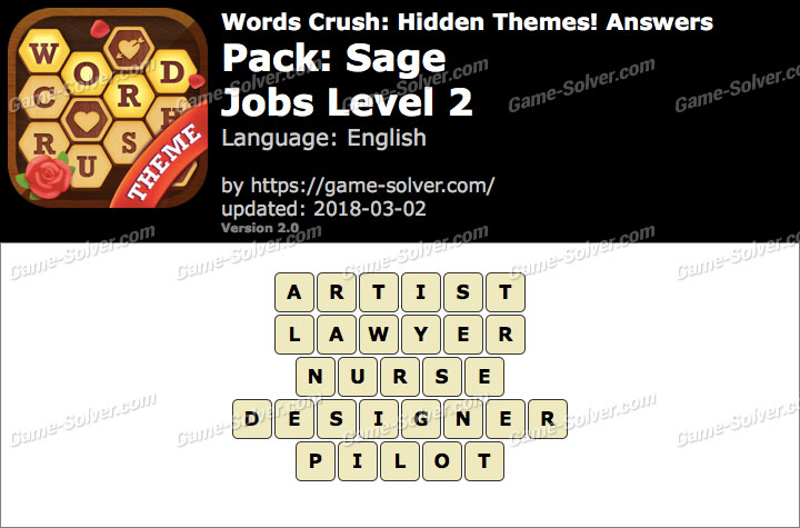 Words Crush Sage-Jobs Level 2 Answers