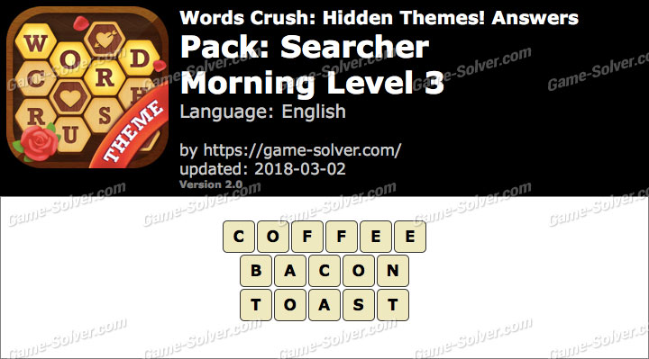 Words Crush Searcher-Morning Level 3 Answers