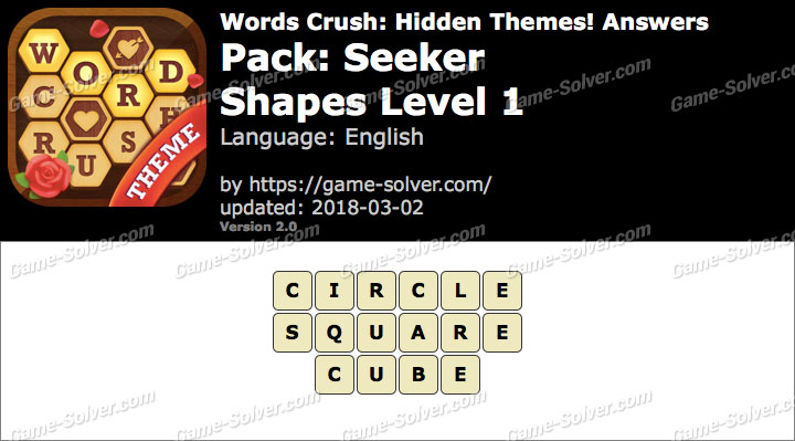 Words Crush Seeker-Shapes Level 1 Answers