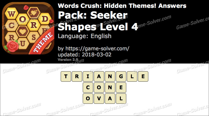 Words Crush Seeker-Shapes Level 4 Answers