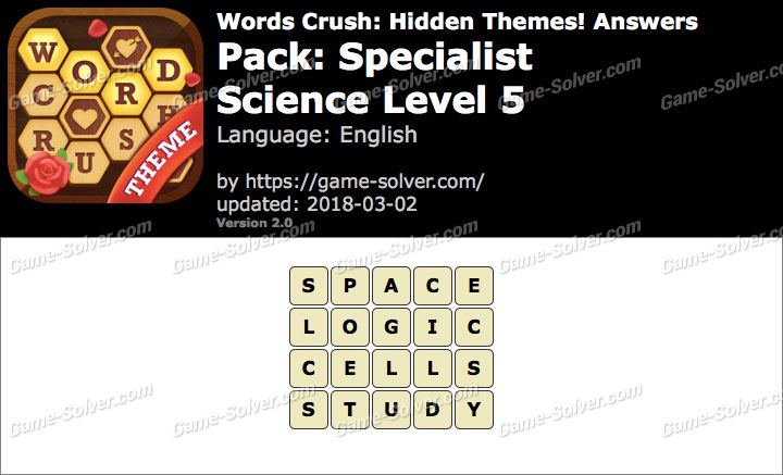 Words Crush Specialist-Science Level 5 Answers
