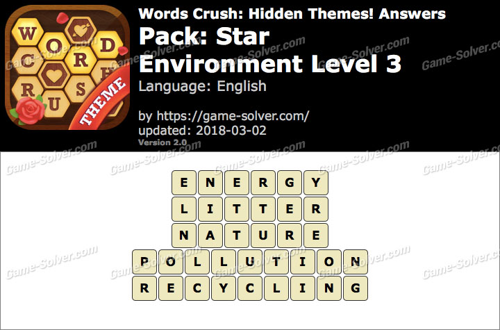 Words Crush Star-Environment Level 3 Answers