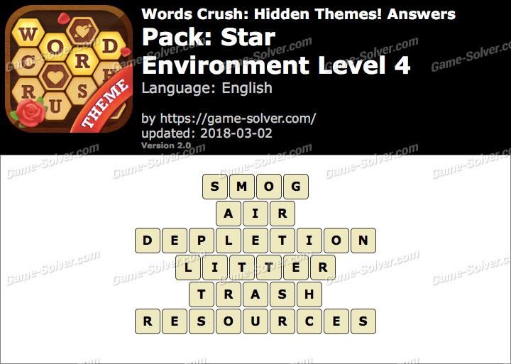 Words Crush Star-Environment Level 4 Answers