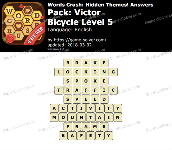 Words Crush Victor-Bicycle Level 5 Answers