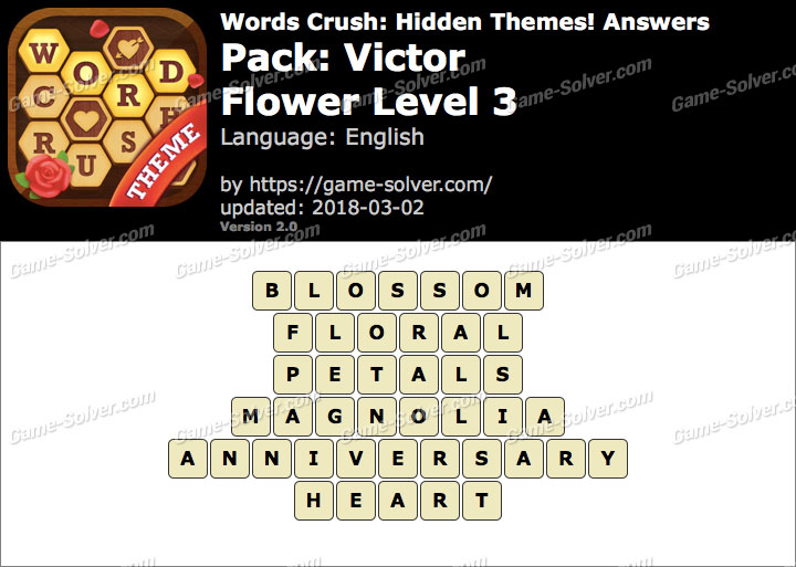 Words Crush Victor-Flower Level 3 Answers