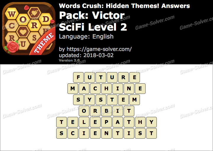Words Crush Victor-SciFi Level 2 Answers