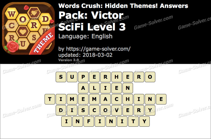 Words Crush Victor-SciFi Level 3 Answers