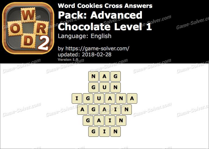 Word Cookies Cross Advanced-Chocolate Level 1 Answers