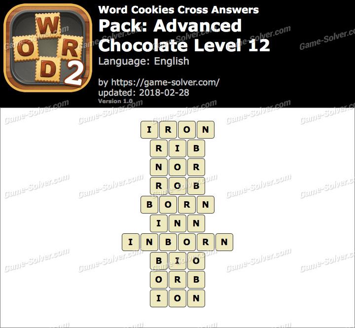 Word Cookies Cross Advanced-Chocolate Level 12 Answers