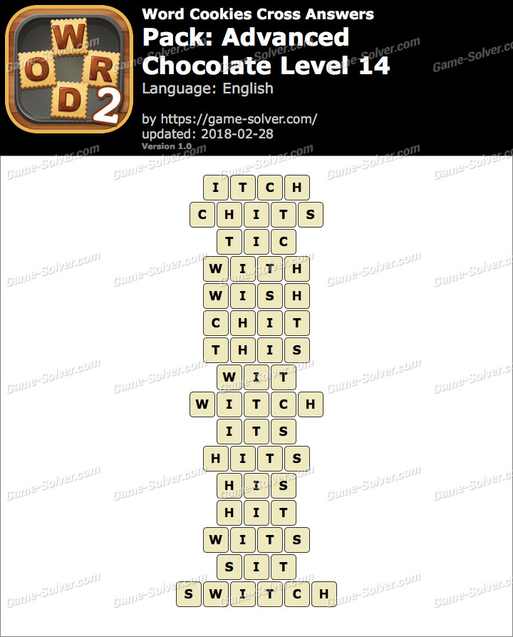 Word Cookies Cross Advanced-Chocolate Level 14 Answers