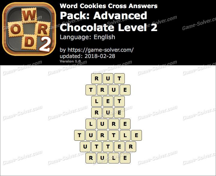 Word Cookies Cross Advanced-Chocolate Level 2 Answers