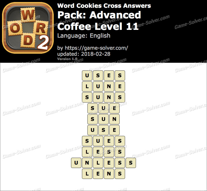 Word Cookies Cross Advanced-Coffee Level 11 Answers