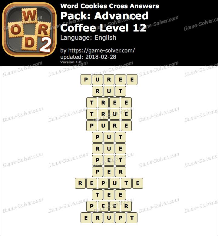 Word Cookies Cross Advanced-Coffee Level 12 Answers