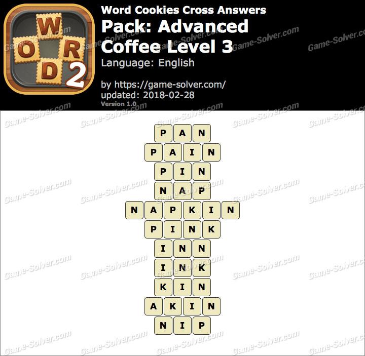 Word Cookies Cross Advanced-Coffee Level 3 Answers