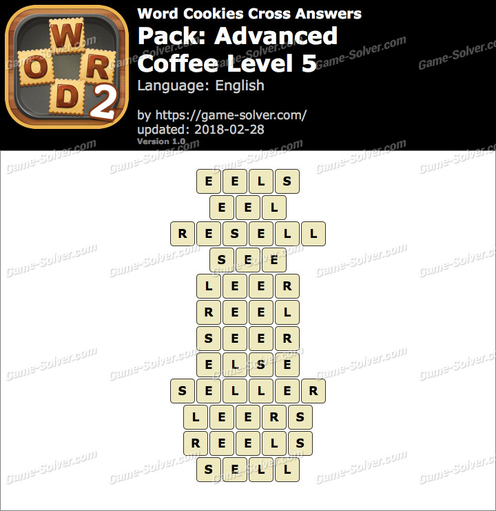 Word Cookies Cross Advanced-Coffee Level 5 Answers