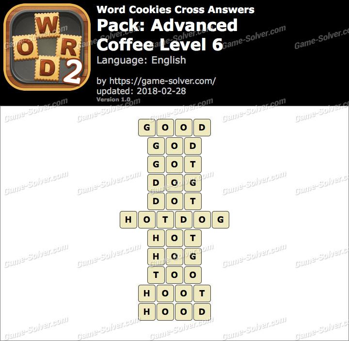 Word Cookies Cross Advanced-Coffee Level 6 Answers