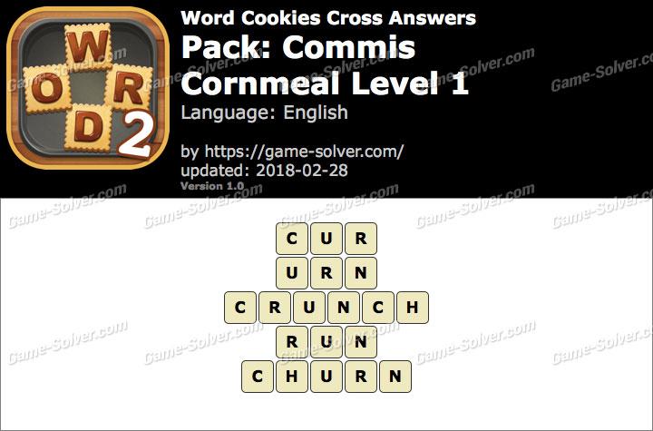 Word Cookies Cross Commis-Cornmeal Level 1 Answers