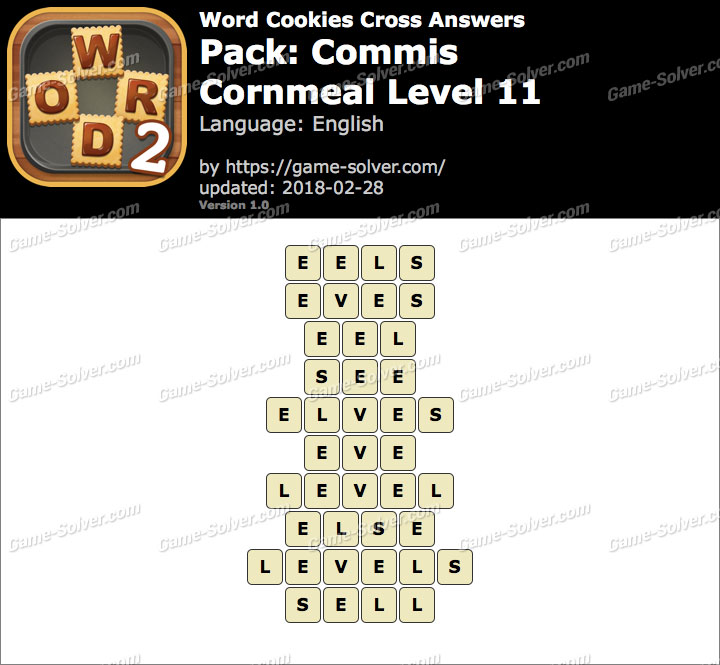Word Cookies Cross Commis-Cornmeal Level 11 Answers