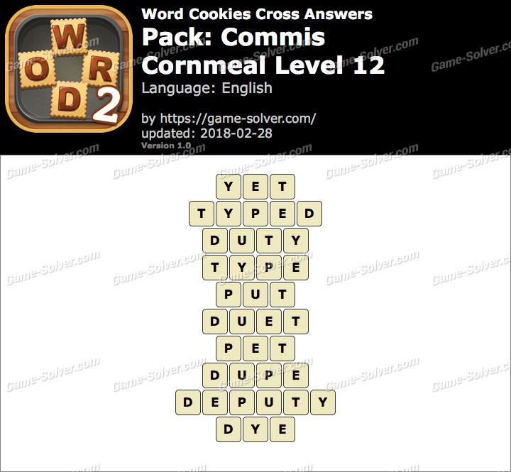 Word Cookies Cross Commis-Cornmeal Level 12 Answers