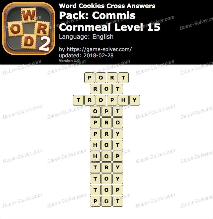 Word Cookies Cross Commis-Cornmeal Level 15 Answers