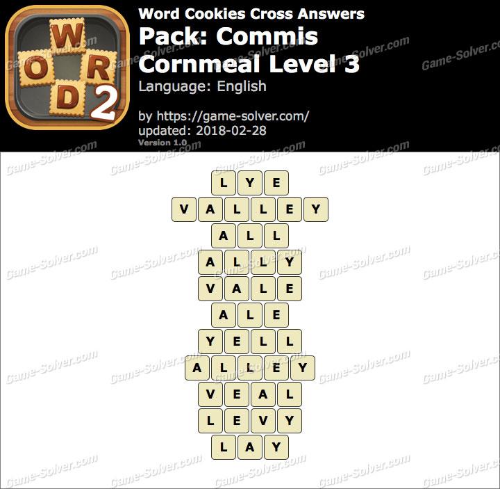 Word Cookies Cross Commis-Cornmeal Level 3 Answers