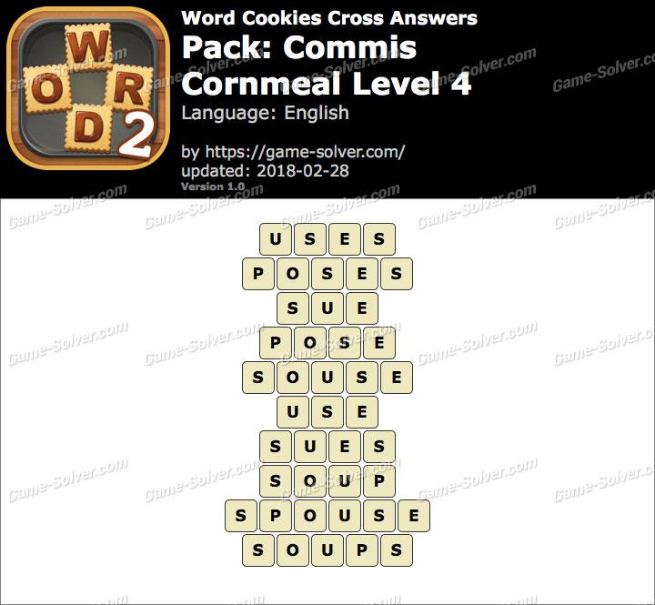 Word Cookies Cross Commis-Cornmeal Level 4 Answers