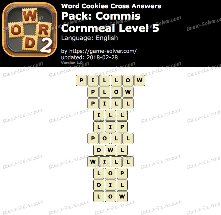 Word Cookies Cross Commis-Cornmeal Level 5 Answers
