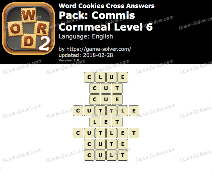 Word Cookies Cross Commis-Cornmeal Level 6 Answers