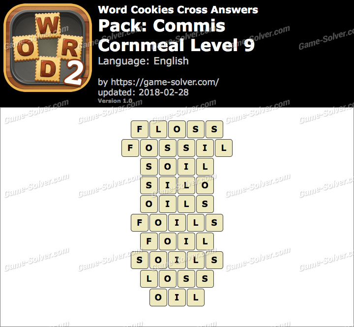 Word Cookies Cross Commis-Cornmeal Level 9 Answers