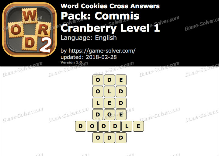 Word Cookies Cross Commis-Cranberry Level 1 Answers