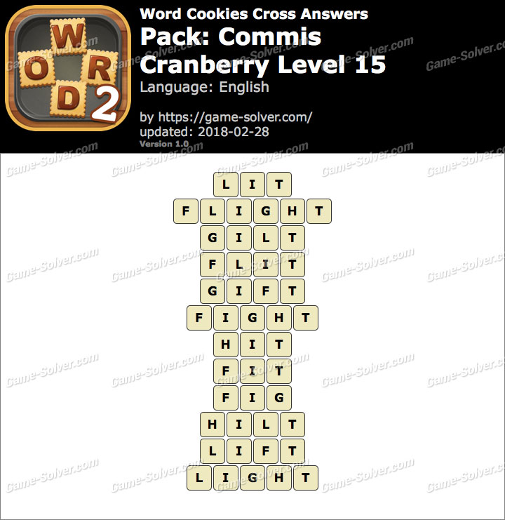 Word Cookies Cross Commis-Cranberry Level 15 Answers