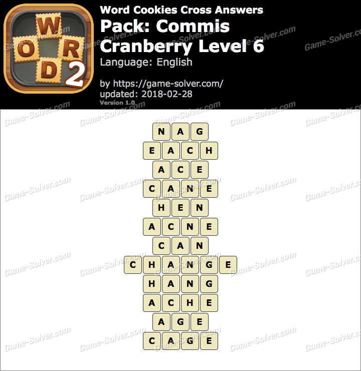 Word Cookies Cross Commis-Cranberry Level 6 Answers