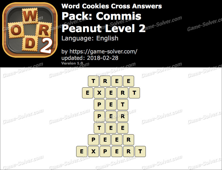 Word Cookies Cross Commis-Peanut Level 2 Answers