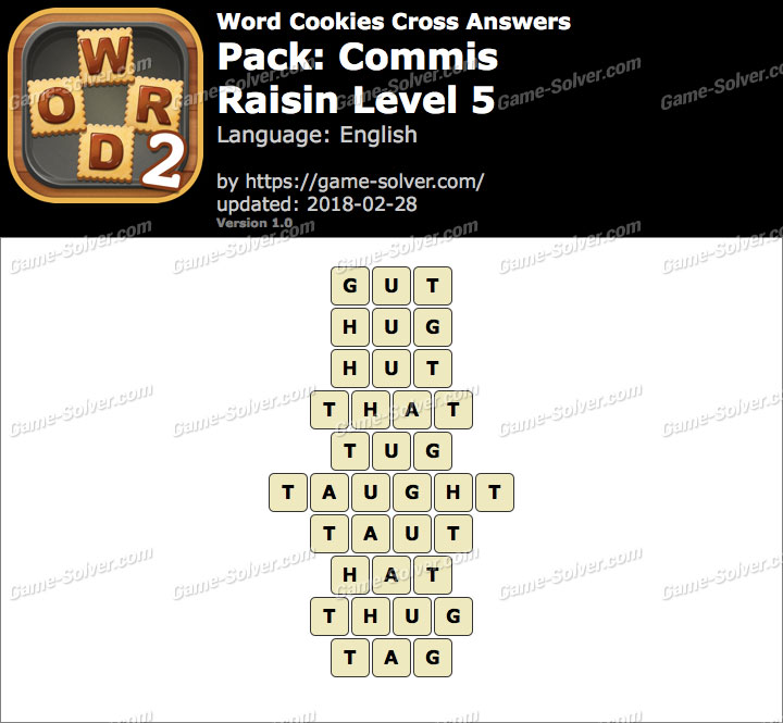 Word Cookies Cross Commis-Raisin Level 5 Answers