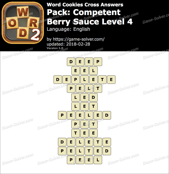 Word Cookies Cross Competent-Berry Sauce Level 4 Answers