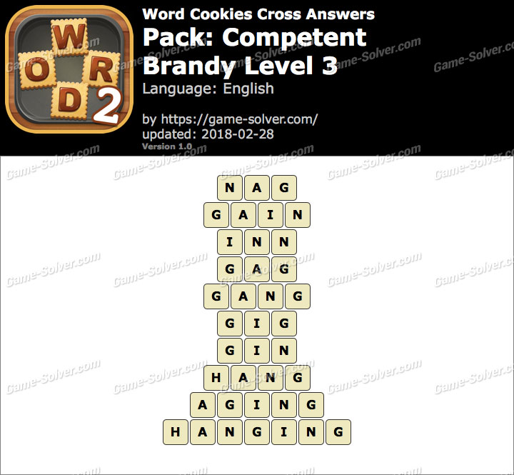 Word Cookies Cross Competent-Brandy Level 3 Answers