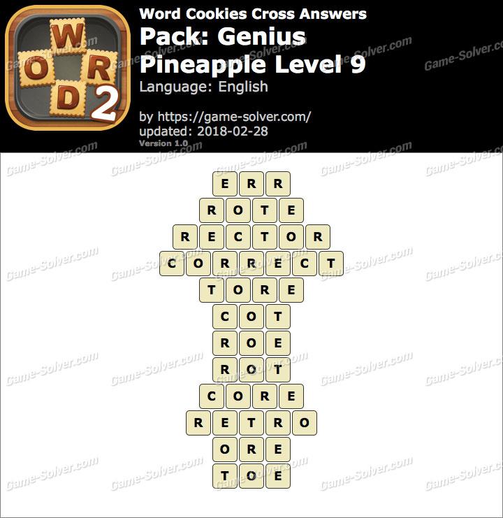 Word Cookies Cross Genius-Pineapple Level 9 Answers