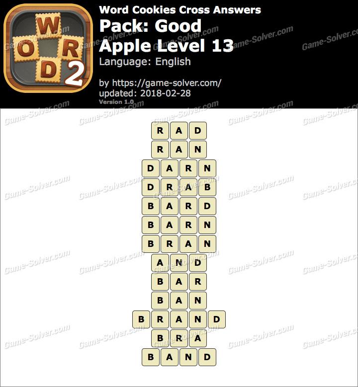 Word Cookies Cross Good-Apple Level 13 Answers